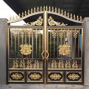 Top 40 mẫu cổng inox mạ màu nghệ thuật đẹp, sang trọng, đẳng cấp