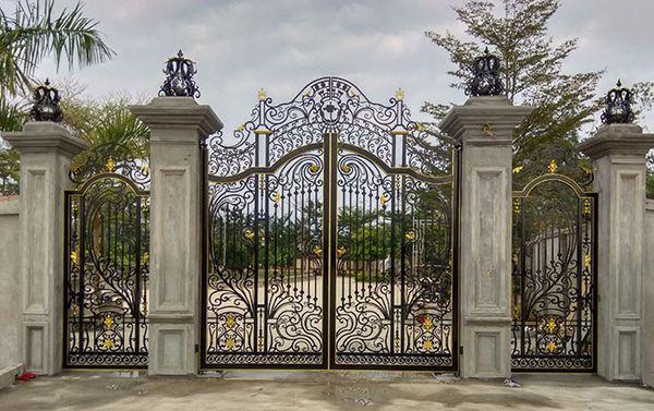 Tổng hợp 40 mẫu cổng sắt mỹ thuật đẹp không thể bỏ qua
