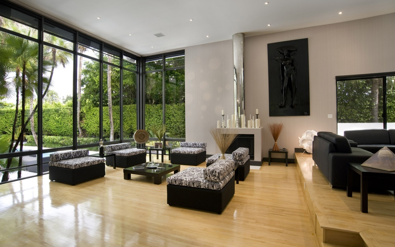 Phòng khách biệt thự đẹp được bố trí đơn giản nhưng sang trọng