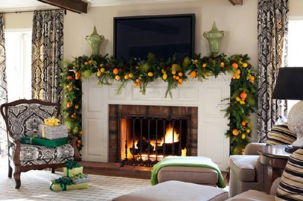 cách trang trí phòng khách đón giáng sinh