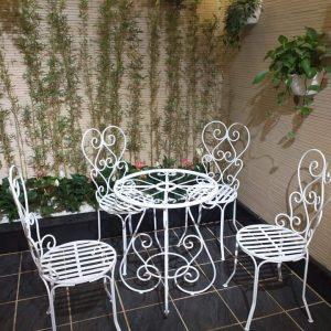 bàn ghế cà phê, sân vườn