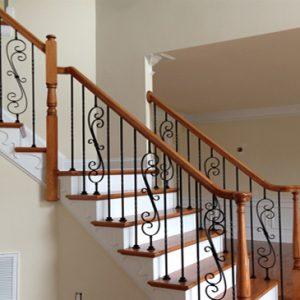 Cầu thang sắt gỗ đẹp