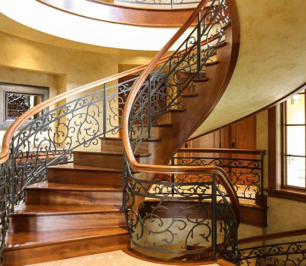 Cầu thang khung sắt đẹp