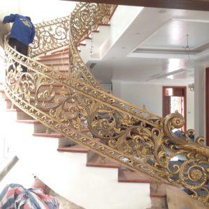 Cầu thang nhôm đúc CT002
