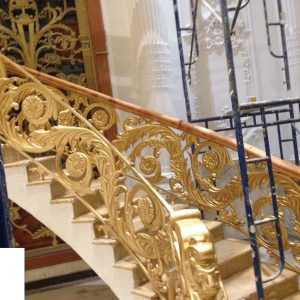Cầu thang nhôm đúc CT003
