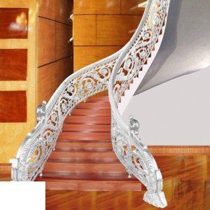Cầu thang hợp kim nhôm đúc CT004