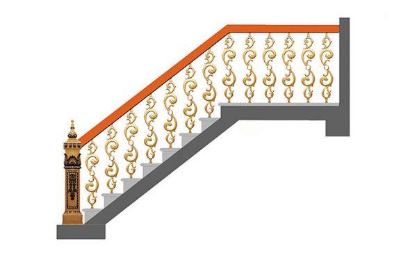 Cầu thang nhôm đúc CT006
