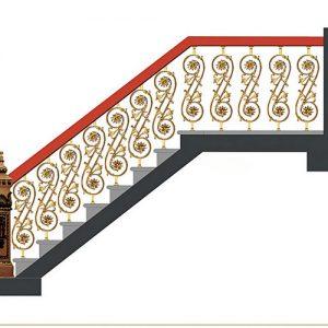 Cầu thang nhôm đúc CT007