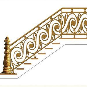 Cầu thang nhôm đúc CT008