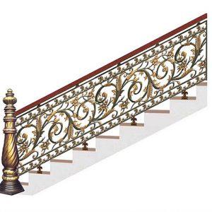 Cầu thang nhôm đúc CT009
