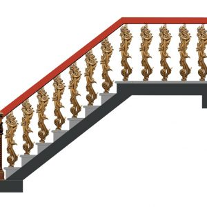 Cầu thang nhôm đúc CT010