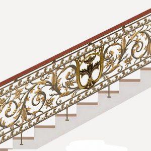 Cầu thang nhôm đúc CT011