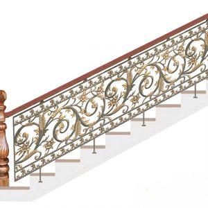 Cầu thang nhôm đúc CT012