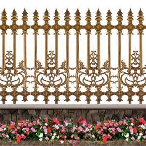 Hàng rào nhôm đúc HR001 / cổng nhôm đúc HOÀNG GIA
