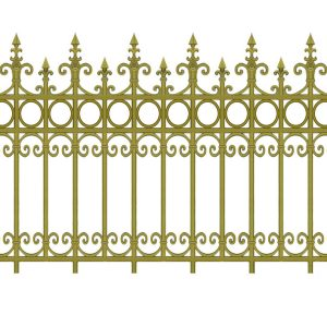 Hàng rào nhôm đúc HR003
