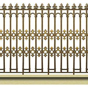 Hàng rào nhôm đúc HR005