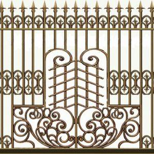Hàng rào nhôm đúc HR010