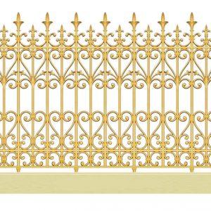 Hàng rào nhôm đúc HR015