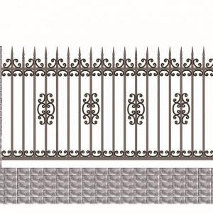 Hàng rào nhôm đúc HR018