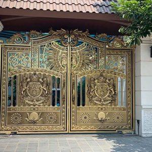 Cổng nhôm đúc bí mật của công trình đẹp cùng thời gian