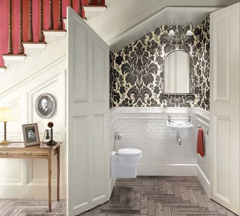 Mẫu thiết kế nhà vệ sinh đẹp mắt dưới gầm cầu thang
