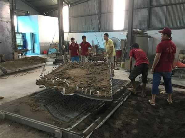Quy trình các công đoạn sản xuất một bộ cổng nhôm đúc